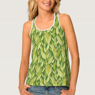 Corn plants pattern background tank top