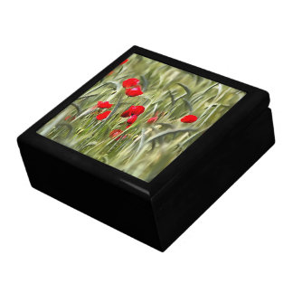 Corn Poppies Large Square Gift Box