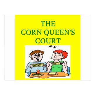 corn queen postcard