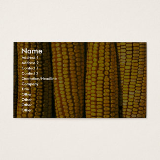 Corn texture business card