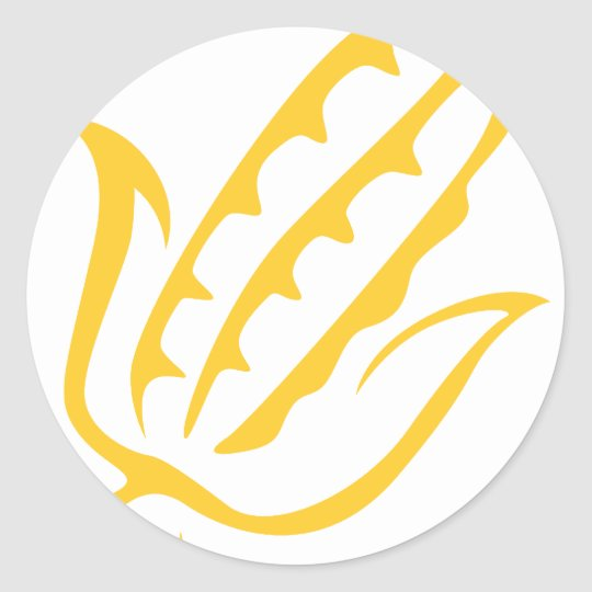 Corn Vegetable Icon Classic Round Sticker