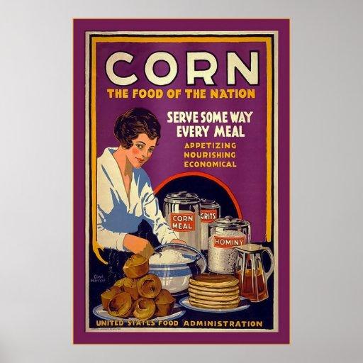 Corn~Vintage World War 1 Poster