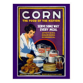 Corn Vintage WPA Poster Postcard