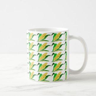 corn with green leaves. Farm Coffee Mug