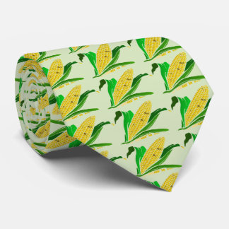 corn with green leaves. Farm Tie
