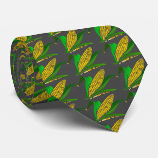 corn with green leaves. Gray Tie