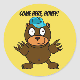 Cornelius Corntooter Cute Bear Round Stickers