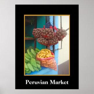 Corner Market in Peru Poster