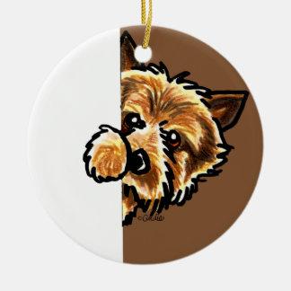 Corner Norwich Terrier Christmas Ornament