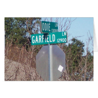 Corner of Garfield and Odie Greeting Card