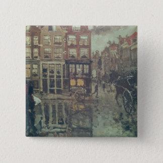 Corner of Leidsche Square, Amsterdam 15 Cm Square Badge