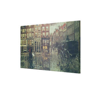 Corner of Leidsche Square, Amsterdam Canvas Print