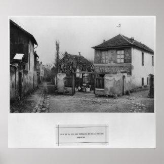 Corner of rue des Rondeaux Posters