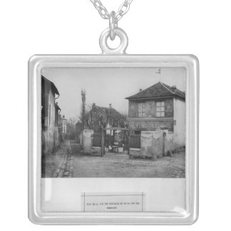 Corner of rue des Rondeaux Silver Plated Necklace