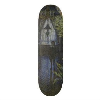 Corner of the Apartment by Claude Monet Skate Board