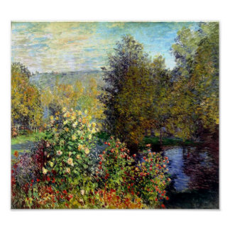 Corner of the Garden by Monet Print