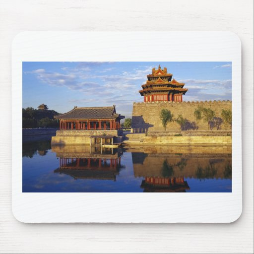Corner Tower of Forbidden City, Beijing, china Mouse Pad