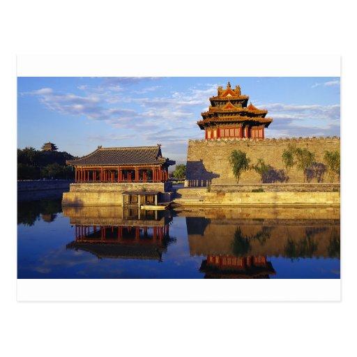 Corner Tower of Forbidden City, Beijing, china Postcard