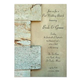 Cornerstones Post Wedding Brunch Invitation