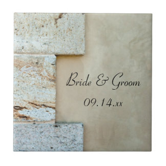 Cornerstones Wedding Small Square Tile
