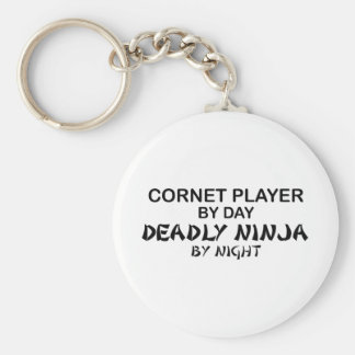 Cornet Deadly Ninja by Night Basic Round Button Key Ring