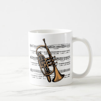 Cornet musical 08 B Basic White Mug