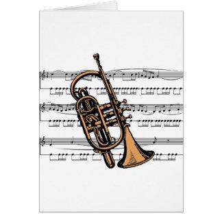 Cornet musical 08 B Card