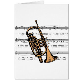 Cornet musical 08 B Greeting Card