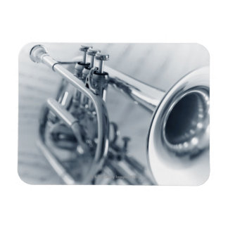 Cornet on Music Sheets Magnet