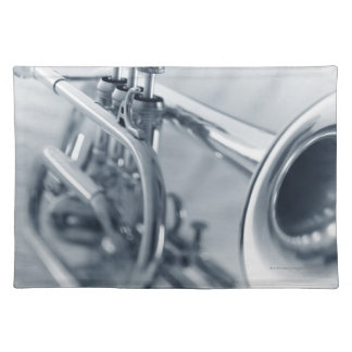 Cornet on Music Sheets Placemat