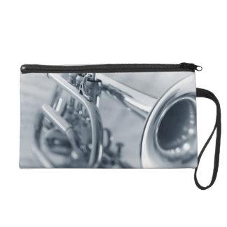 Cornet on Music Sheets Wristlet