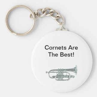 Cornets Are The Best! Basic Round Button Key Ring