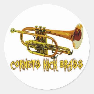 Cornets Kick Brass Classic Round Sticker