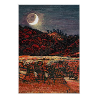 Cornfield by Moonlight, 1830 Poster