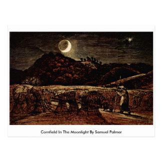 Cornfield In The Moonlight By Samuel Palmer Postcard