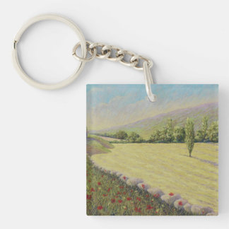 Cornfield & Poppies, Dordogne Acrylic Key Ring