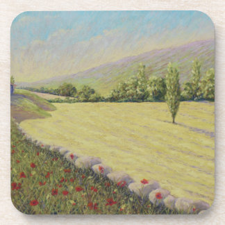 Cornfield & Poppies, Dordogne, France Coasters