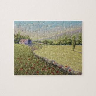 Cornfield & Poppies Dordogne France Jigsaw Puzzle