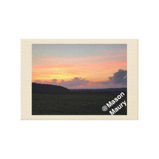 cornfield sky canvas print