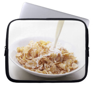 Cornflakes and milk laptop sleeve