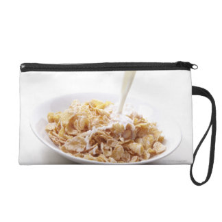 Cornflakes and milk wristlet clutch