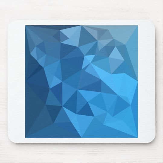 Cornflower Blue Abstract Low Polygon Background Mouse Mat