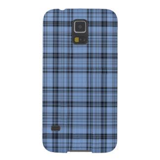 Cornflower Blue and Grey Plaid Galaxy S5 Case