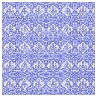 Cornflower Blue and White Antique Decor Fabric
