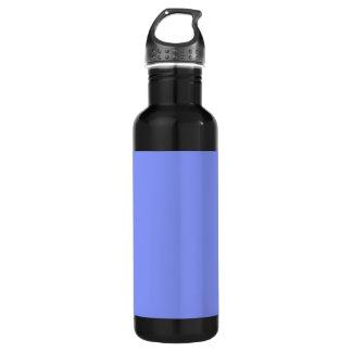 Cornflower Blue Background on a 710 Ml Water Bottle