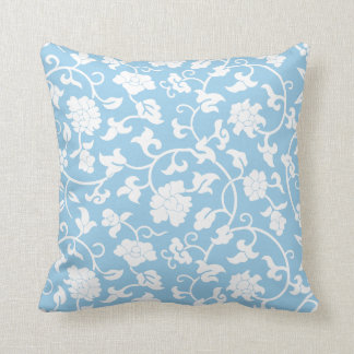 Cornflower Blue Floral Pillow Throw Cushions