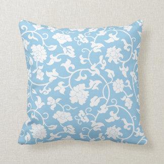 Cornflower Blue Floral Pillow Throw Cushions