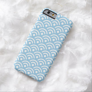 Cornflower Blue Geometric Pattern Iphone 6 Case Barely There iPhone 6 Case