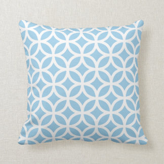 Cornflower Blue Geometric Pattern Pillow Cushion