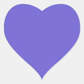 Cornflower Blue Heart Sticker